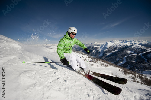 Austria,Salzburg,Austrian woman skiing