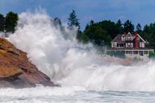 Hurricane Created Waves In York, Maine.