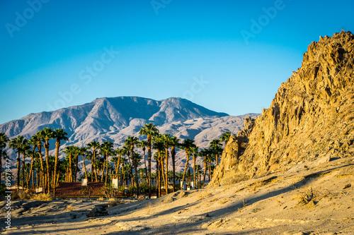 Sunrise on desert mountain, La Quinta, California #89578477