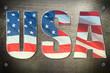 USA flag concept
