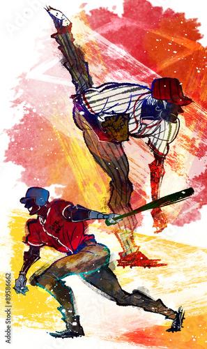 Keuken foto achterwand Art Studio Illustration of sports