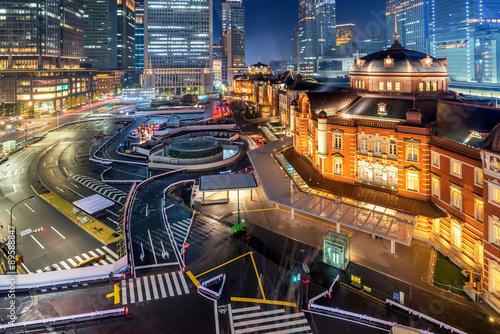 In de dag Tokio tokyo station