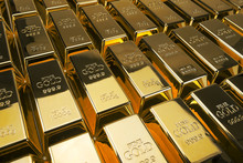 Gold Bars And Financial Concep...