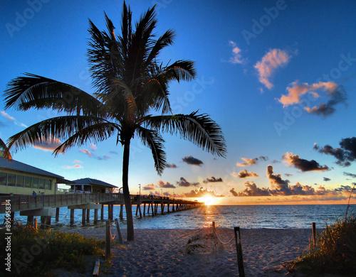 Pier Sunrise / Sunrise at Dania Beach in south Florida