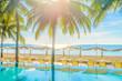 Beautiful hotel pool resort nearly beach