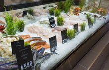 Display Of Seafood In A Shop In Melbourne, Australia