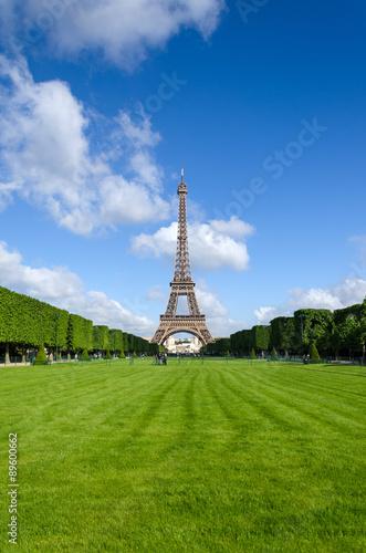 Photo  Eiffel Tower with garden in Paris