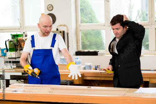 Fototapeta carpenter's job is not good obraz na płótnie