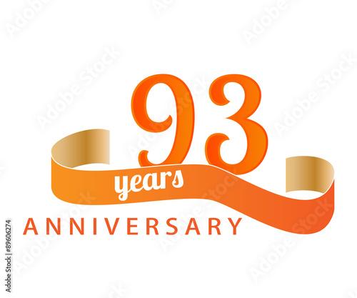 Valokuva  93 year anniversary logo