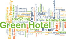 Green Hotel Background Concept