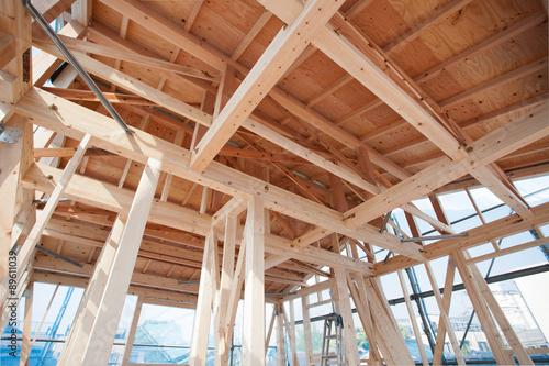 Foto  木造住宅の上棟