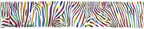 mata magnetyczna Background with multicolored Zebra skin