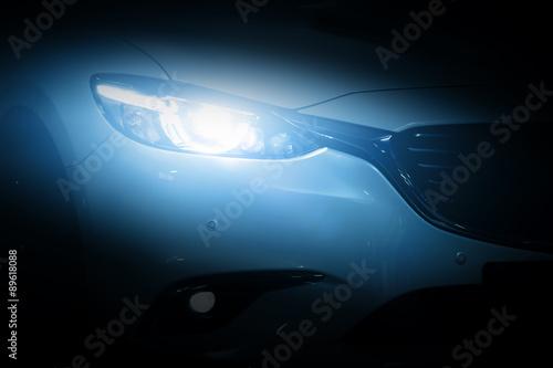 Modern luxury car close-up background Fototapeta