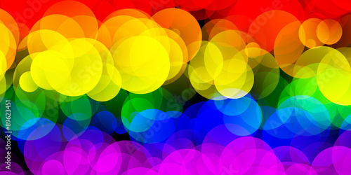 Foto  LGBT Flag With Gradient Circle Effect