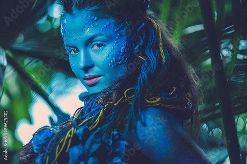 Foto op Plexiglas Beauty Avatar woman in a magical forest