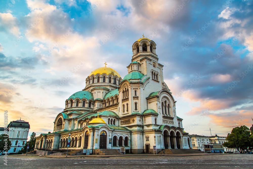 Fototapety, obrazy: St. Alexander Nevski Cathedral in Sofia, Bulgaria