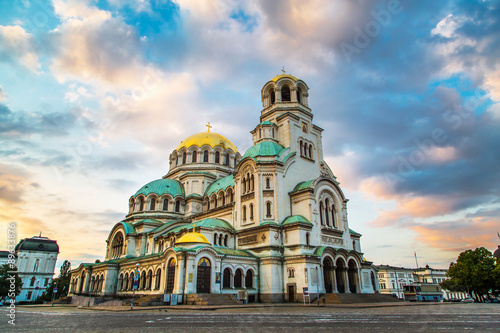 Wall Murals Eastern Europe St. Alexander Nevski Cathedral in Sofia, Bulgaria