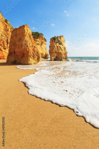 Foto op Plexiglas Strand A view of a Praia da Rocha in Portimao, Algarve region, Portugal