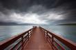 Der einsame Steg aufs Meer
