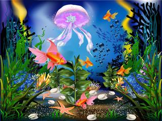 Obraz na płótnie Canvas Fondale marino-Sea bed
