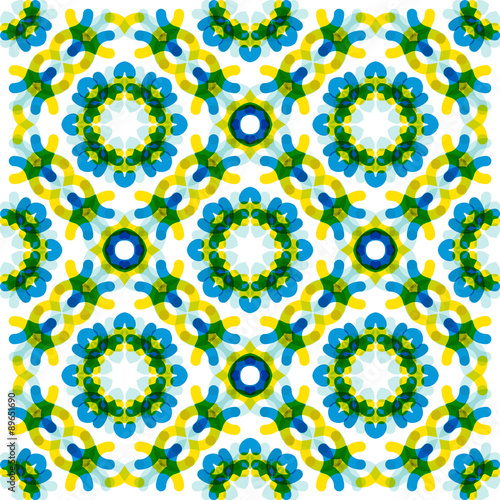 Poster Op straat Seamless vector geometric abstract pattern. Creative round