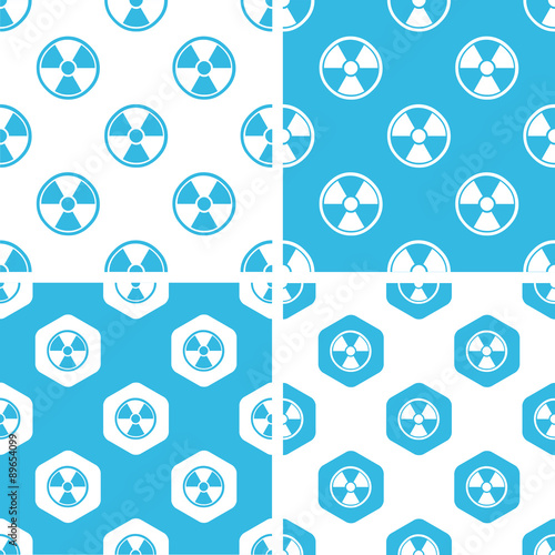 Radiohazard patterns set Canvas Print