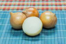 Fresh Onions Background