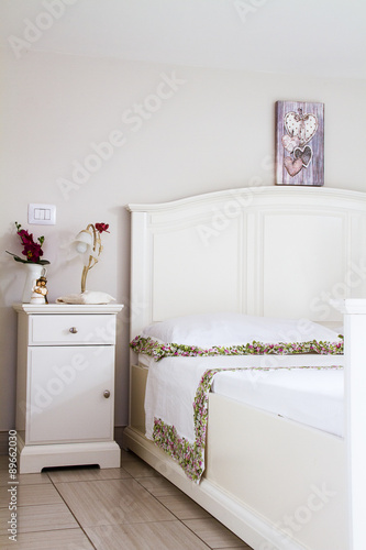 Camera da letto stile shabby - Buy this stock photo and explore ...