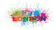 London Skyline Paint Splatter ...