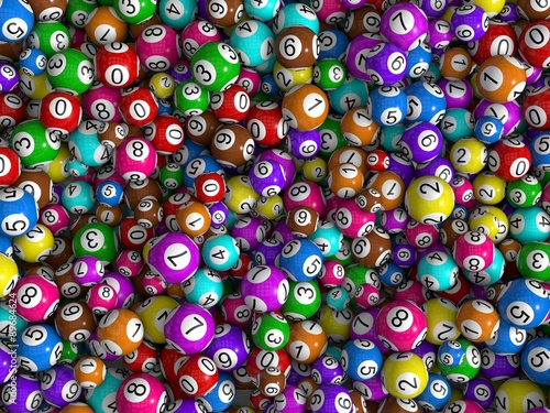 Slika na platnu random sized lottery balls