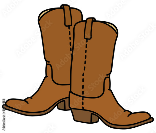 Fotografia, Obraz  Top boots / hand drawing, vector illustration