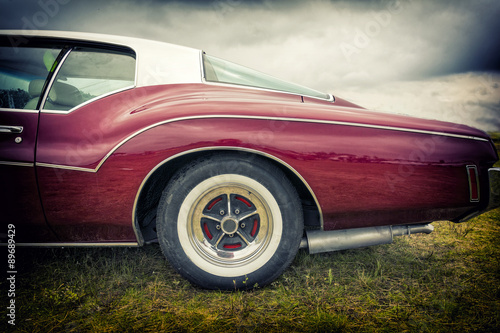 Fototapety, obrazy: Old american car in vintage style