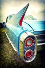 Old American Car In Vintage St...
