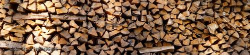 Foto auf Leinwand Brennholz-textur a lot of firewood