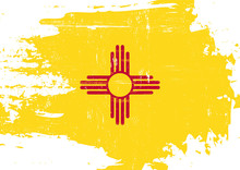 Scratched New Mexico Flag