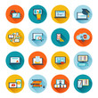 Leinwanddruck Bild - E-learning icon flat