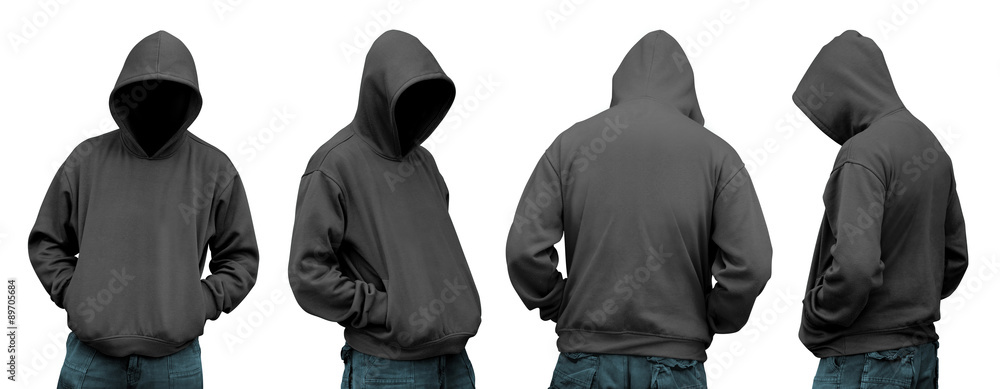 Fototapeta Set of man in hoodie