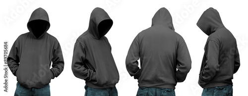 Fotomural  Set of man in hoodie