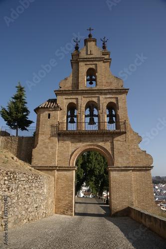Deurstickers Artistiek mon. Monumentos de Aracena, el portico