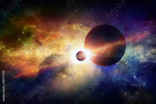 Photo  Fantastic space background
