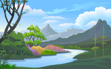 Beauty Of Nature : River And Valley In Muntain