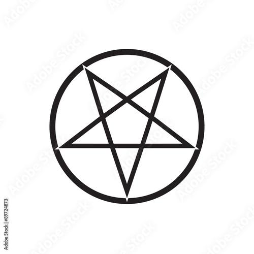 Photo  flaming pentagram vector
