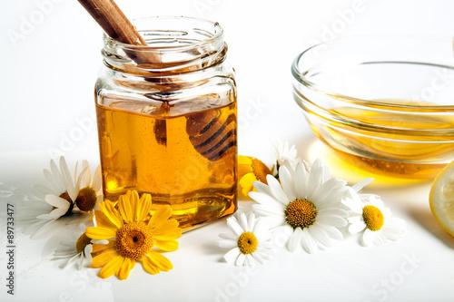 still life of honey Poster