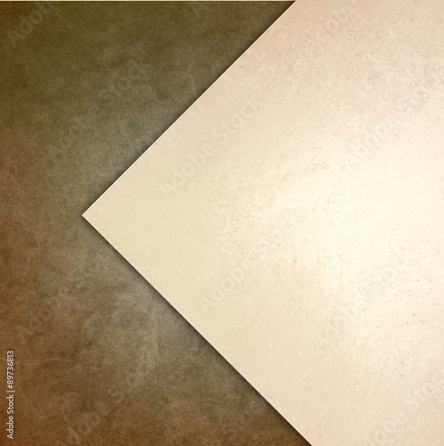 Fotografie, Obraz  elegant brown white background texture paper with abstract angled triangle and d