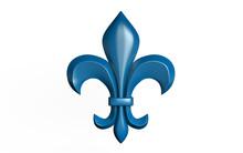 3d Illustartion Of Fleur-de-lis Heraldic Symbol. Isolated On White Background