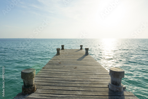 Sea dock and morning light Fototapet