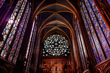 Rose Window Stained Glass Cathedral Sainte Chapelle Paris