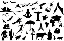 Set Of Many Interesting Silhouettes