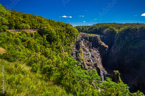 Foto op Canvas Australië Barron Falls and Kuranda Scenic Railways, Queensland, Australia