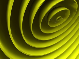 yellow abstract helical background